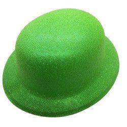 Accessoires de fête, Chapeau melon fluo vert, CI2032-VERT, 1,90€