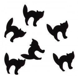 Confettis de table chat - noir Déco festive CLOWN90037