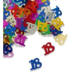 Confettis de table multicolores 18 ans Déco festive CO2770
