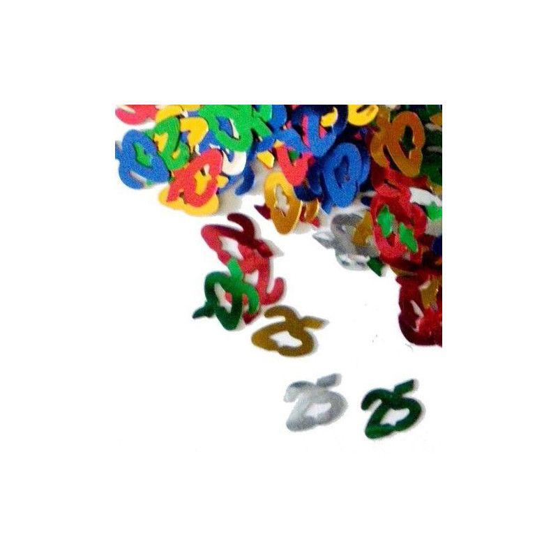 Confettis de table multicolores 25 ans Déco festive CO2772