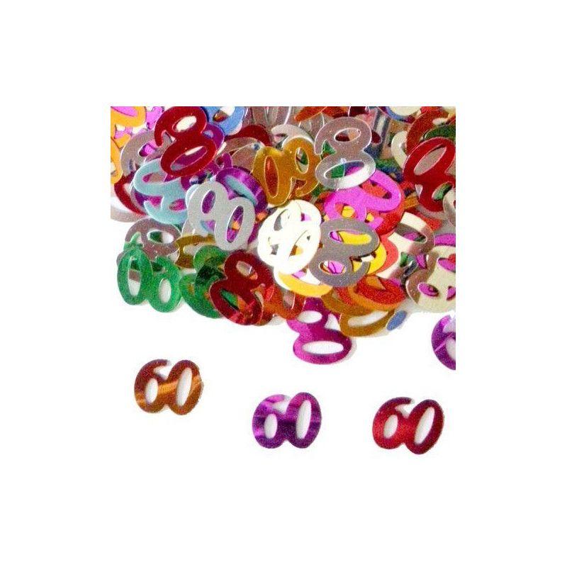 Confettis de table multicolores 60 ans Déco festive CO2776