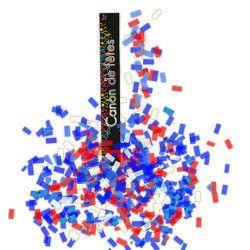Canon confettis rectangles tricolores Déco festive CO2938