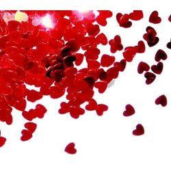 Confettis de table coeur rouge 14 g Déco festive COH2737