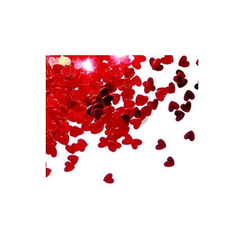 Déco festive, Confettis de table coeur rouge 14 g, COH2737, 1,60€