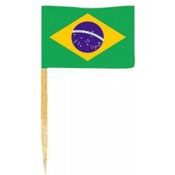 Mini drapeaux brésil x 50 Déco festive DR84000-BRESIL