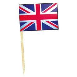 Déco festive, Mini drapeaux Royaume Uni x 50, DR84000-ROYA, 1,00€