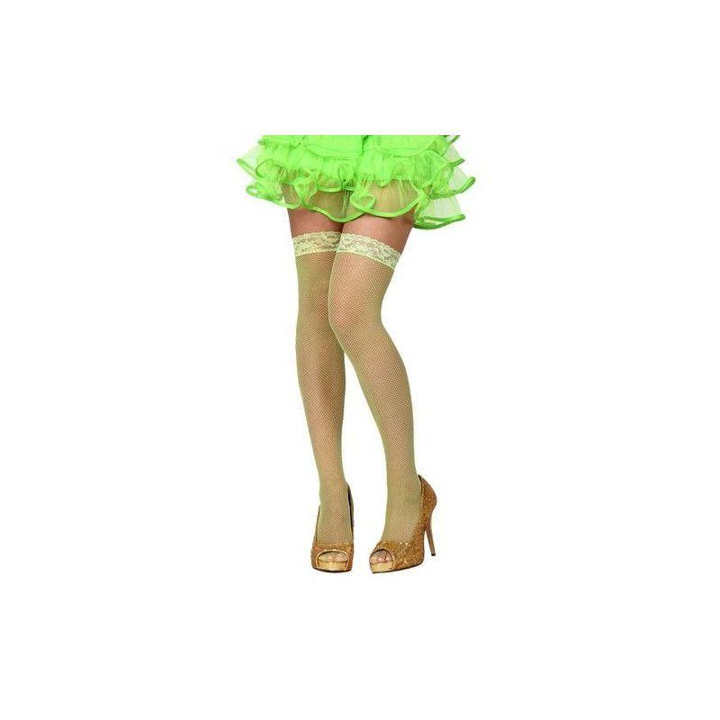 Bas résille verts Accessoires de fête 14387