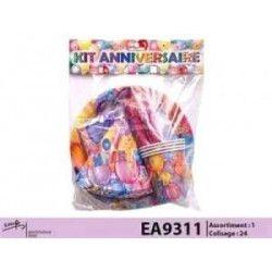 Kit anniversaire 4 personnes Déco festive EA9311