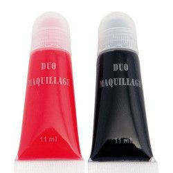 Accessoires de fête, Fard gras - tube rouge et tube noir, 14501, 2,90€