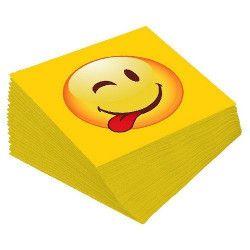 Serviettes papier textine Emoji x 12 dimension 33 cm Déco festive GEMOSTD12EM