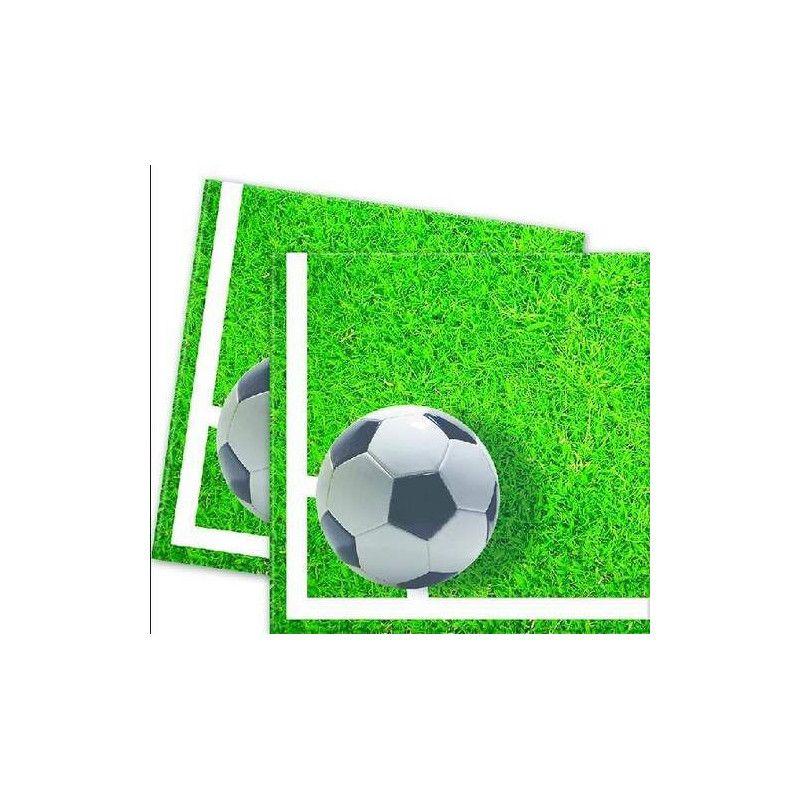Serviettes papier 33 x 33 cm Football Party x 20 Déco festive GFOG86869