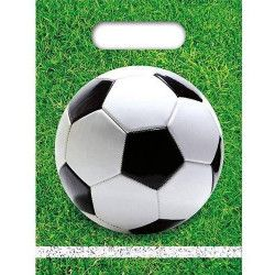 Déco festive, Sacs anniversaire Football Party x 6, GFOG86872, 1,25 €