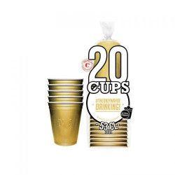 Déco festive, Gobelets dorés original cup 53 cl x 20, GG53-20, 4,90€