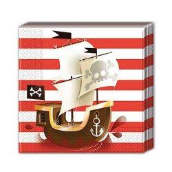 Serviettes anniversaire Powerful Pirates x 20 Déco festive GPIR88160