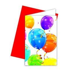 Déco festive, Cartes et enveloppes invitation x 6 thème Surprise, GSUR88153, 2,90€