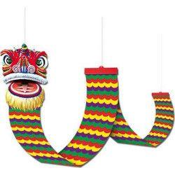 Dragon en carton à suspendre Nouvel an chinois Déco festive GU48012
