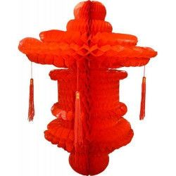 Déco festive, Suspension chinoise rouge 80 cm, GU48395, 11,40€