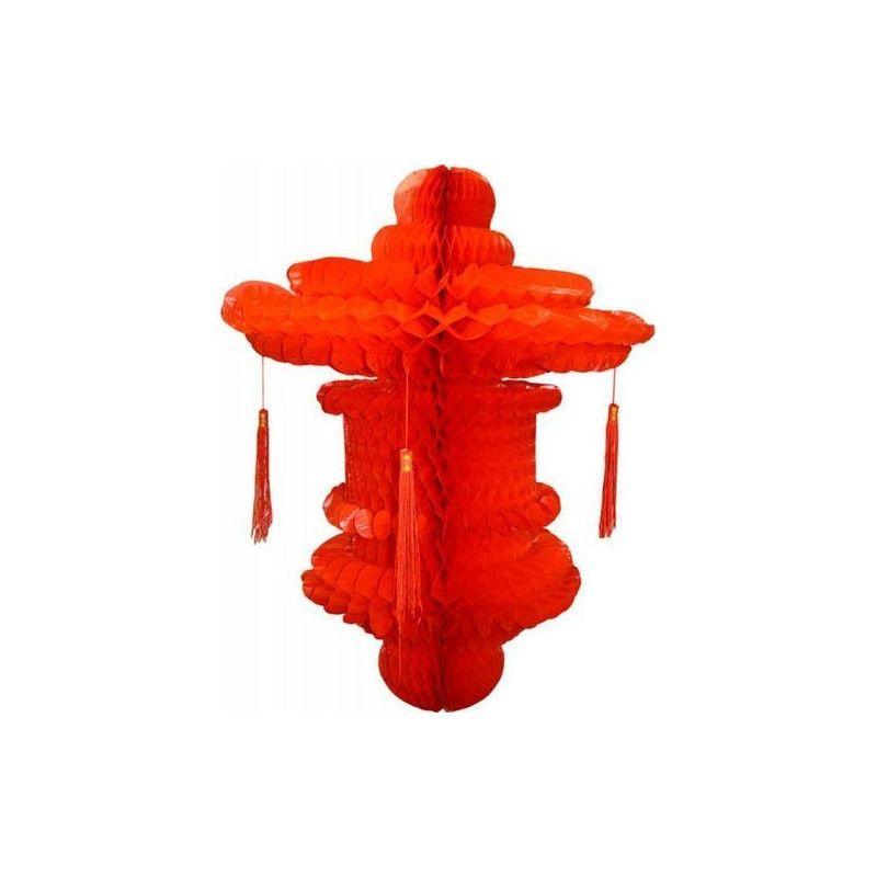 Suspension chinoise rouge 80 cm Déco festive GU48395