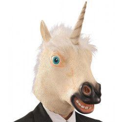 Accessoires de fête, Masque tête de licorne en latex, 1466, 24,90€