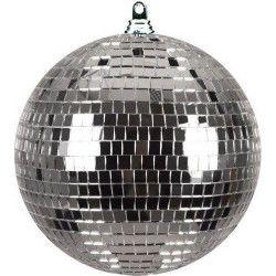 Boule à facettes argent diamètre 10 cm Déco festive GU73503-ARGENT