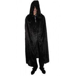 Accessoires de fête, Cape en velours noir 182 cm, H4021, 19,90€