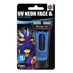 Maquillage corps et visage bleu néon UV 13 ml Accessoires de fête HA1A03