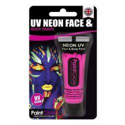 Accessoires de fête, Maquillage corps et visage rose néon UV 13 ml, HA1A04, 2,70€
