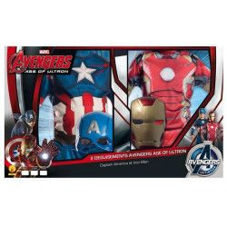 Panoplie 2 déguisements Iron Man et Captain America Civil War™ enfant 3-4 ans Déguisements I-620775S
