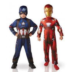 Panoplie 2 déguisements Iron Man et Captain America Civil War™ garçon 3-4 ans Déguisements I-620775S