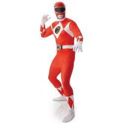 Déguisement seconde peau Power Rangers™ rouge homme taille L Déguisements I-810945L