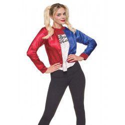 Déguisement veste et t-shirt Harley Quinn™ femme taille S Déguisements I-820078S