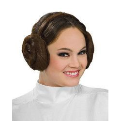 Serre-tête avec chignons Princesse Leia Star Wars™ adulte Accessoires de fête I-8230
