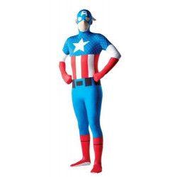 Déguisement Captain America™ seconde peau homme taille L Déguisements I-880950L