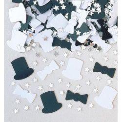 Confettis Haut de forme et Noeud papillon Déco festive INT36079