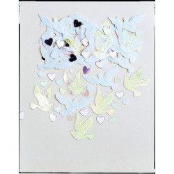 Confettis Colombes mariage Déco festive INT36854