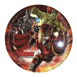 Assiettes carton Avengers Age of Ultron™ 23 cm x 8 Déco festive LAVE85394