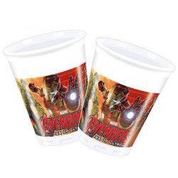 Gobelets anniversaire Avengers Age of Ultron™ x 8 Déco festive LAVE85396