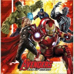 Déco festive, Serviettes anniversaire Avengers Age of Ultron™ x 20, LAVE85397, 3,40€
