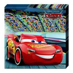 Serviettes anniversaire Cars 3™ x 20 Déco festive LCAR87799