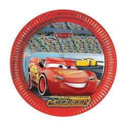 Assiettes carton Cars 3™ x 8 diamètre 23 cm Déco festive LCAR87807