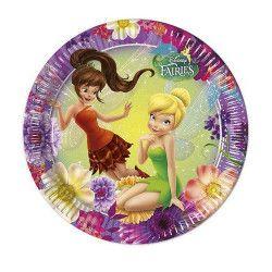 Déco festive, Assiettes jetables anniversaire 23 cm Fairies x 8, LFAI85242, 3,40€