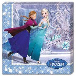 Serviettes anniversaire Reine des Neige™ Patinage x 20 Déco festive LFRO85429