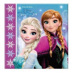 Déco festive, Serviettes anniversaire Reine des Neiges flocons™ x 20, LFRO86757, 3,55€