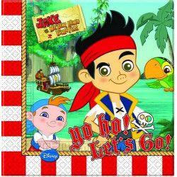 Déco festive, Serviettes anniversaire Jake Le Pirate x 20, LJAK82610, 3,40€