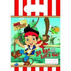 Déco festive, Sacs anniversaire Jake le Pirate™ x 6, LJAK82612, 1,25€