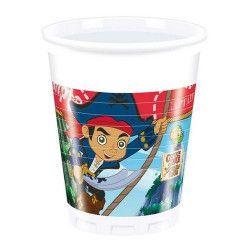Déco festive, Gobelets anniversaire Jake le Pirate™ x 8, LJAK86237, 1,99€