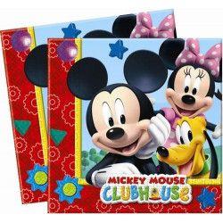 Serviettes anniversaire Mickey Mouse x 20 Déco festive LMIC81510