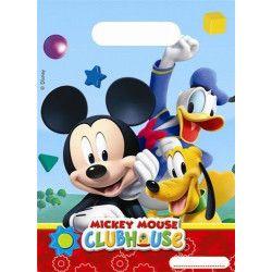 Sacs anniversaire Mickey Mouse x 6 Déco festive LMIC81512