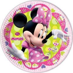 Assiettes carton Minnie™ Bow-Tique 23 cm x 8 Déco festive LMIN81642