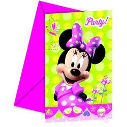 Cartes invitation anniversaire Minnie Bow-Tique x 6 Déco festive LMIN81647
